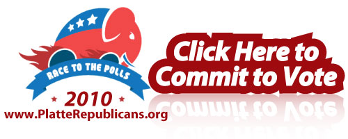 Race to the Polls 2010. Click here to commit to vote.